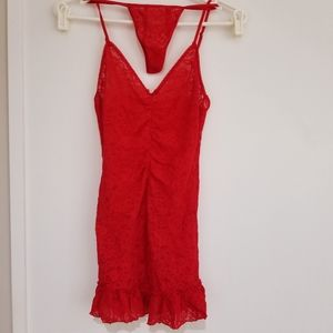 Victoria's Secret The Lacie set lingerie red Small